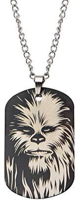 Star Wars Jewelry Chewbacca Face Stainless Steel Dog Tag Pendant Necklace