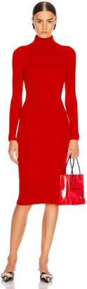 Balenciaga Long Sleeve Turtleneck Dress in Red | FWRD