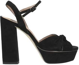 Bibi Lou Black Suede Sandals