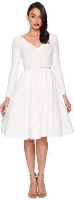 Unique Vintage Long Sleeve Maude Swing Dress Women's Dress