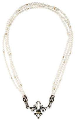 Lagos Fleur De Lis Pearl Necklace
