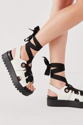 Urban Outfitters Cameron Ribbon Lace-Up Platform Sandal