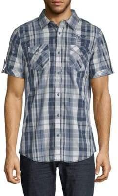 Buffalo David Bitton Embroidered Plaid Shirt