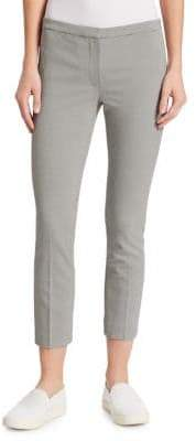 Theory Classic Crop Houndstooth Skinny Pants