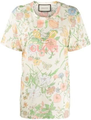 Gucci Floral print T-shirt