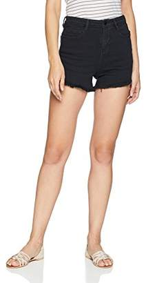Obey Junior's Alexa High Rise Skinny Fit Denim Short