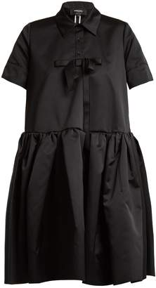 Rochas Bow-embellished frill duchess-satin shirtdress