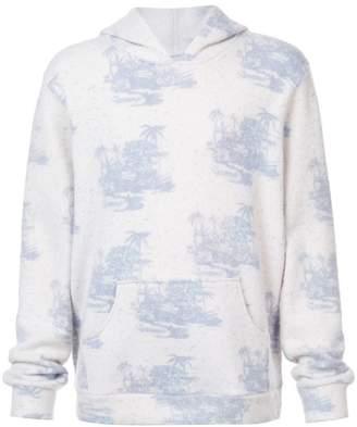 The Elder Statesman Tropics print hoodie
