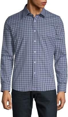 Hyden Yoo Men's Slim-Fit Checkered Cotton Button-Down Shirt