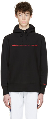 032c Black 'The Beatings Will Continue' Hoodie $140 thestylecure.com