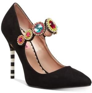 Betsey Johnson Jodi Jeweled Pumps Women's Shoes