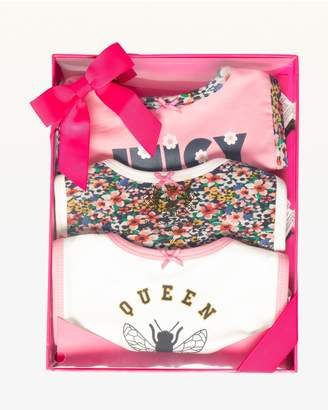 Juicy Couture Juicy Bees 3-Piece Bib Set for Baby