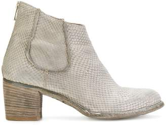 Officine Creative printed leather ankle boots