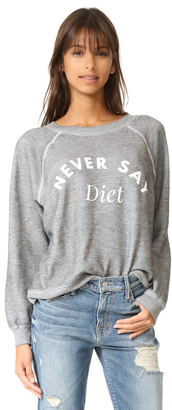 Wildfox Never Say Diet Sweatshirt $114 thestylecure.com