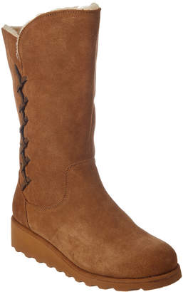 BearPaw Women's Camila Savvy Slim Tread Neverwet Suede Boot