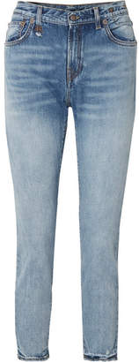 R 13 High-rise Straight-leg Jeans - Light denim