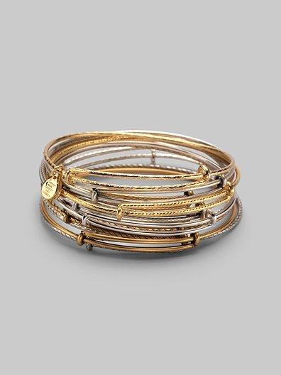 Alex and Ani Mixed Expandable Wire Bracelet Set