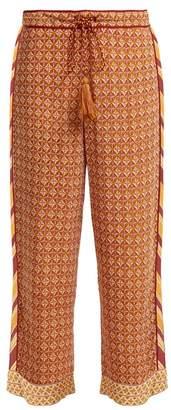 Talitha Collection Tutsi Scarf Print Trousers - Womens - Orange Multi