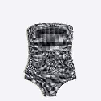 J.Crew Factory Gingham strapless one-piece swimsuit