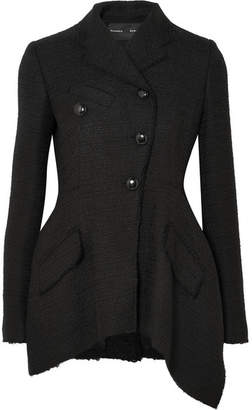 Proenza Schouler Asymmetric Tweed Blazer - Black