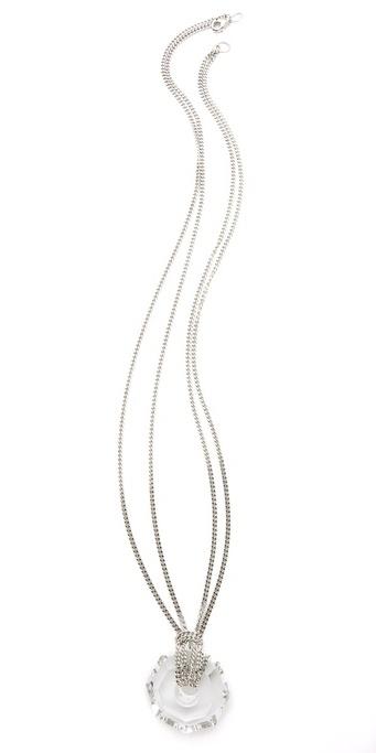 Robert rodriguez Long Crystal Pendant Necklace
