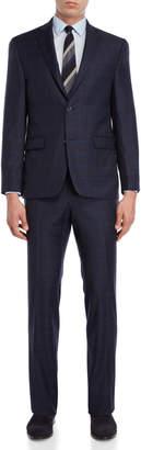 Michael Kors Two-Piece Navy Windowpane Suit