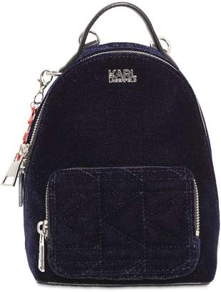 Karl Lagerfeld Kaia X Glitter Velvet Mini Backpack