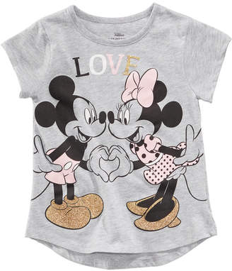 Disney Toddler Girls Mickey & Minnie Mouse Love T-Shirt