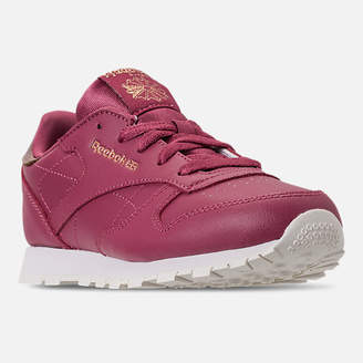 Reebok Girls' Little Kids' Classic Leather Casual Shoes