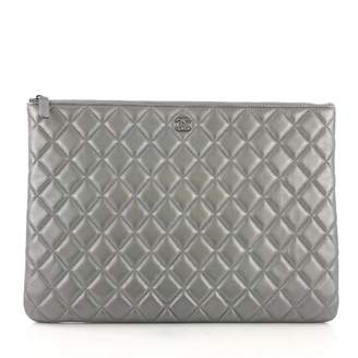 ef958f8cea0a Silver Leather Clutch - ShopStyle