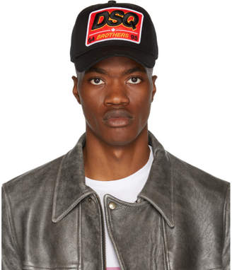 DSQUARED2 Black DSQ Cap