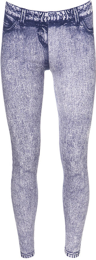 Denim Print Legging