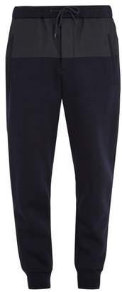 Marni - Contrast Panel Cotton Blend Track Pants - Mens - Navy