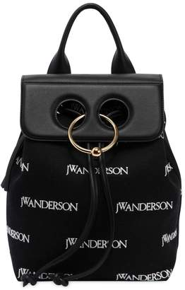 J.W.Anderson Mini Pierce & Logo Canvas Backpack
