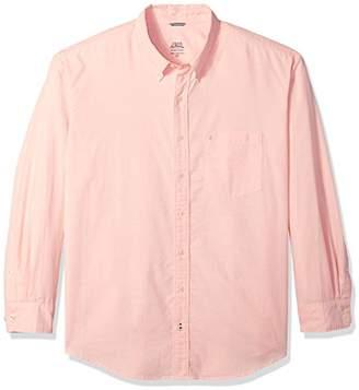 Izod Men's Newport Oxford Solid Long Sleeve Shirt (Big and Tall)
