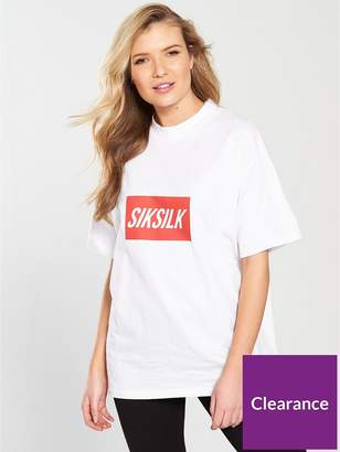 SikSilk Box Print Retro Tee