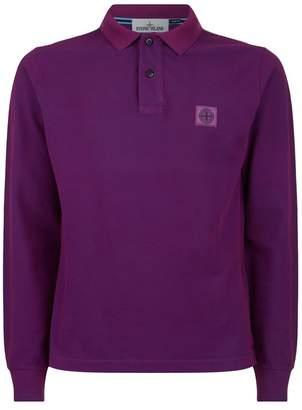 Stone Island Cotton Long Sleeve Polo Shirt