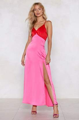 Nasty Gal Slit While You're Ahead Maxi Dress