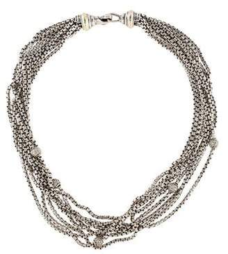 David Yurman Diamond Multistrand Necklace