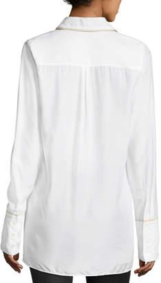 J Brand Blake Oversized Long-Sleeve Poplin Shirt