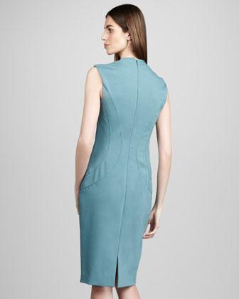 Rachel Roy Ponte V-Neck Dress