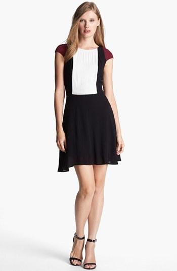 Ella Moss Colorblock Fit & Flare Dress