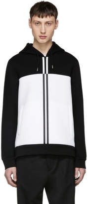 Diesel Black Gold Black and White Colorblock Hoodie
