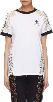 Stella McCartney x adidas 3-Stripes sleeve lace panel T-shirt
