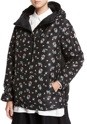 Moncler Mirtus Floral Hooded Combo Jacket $1,590 thestylecure.com