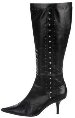 MICHAEL Michael Kors Embellished Knee-High Boots Black Embellished Knee-High Boots