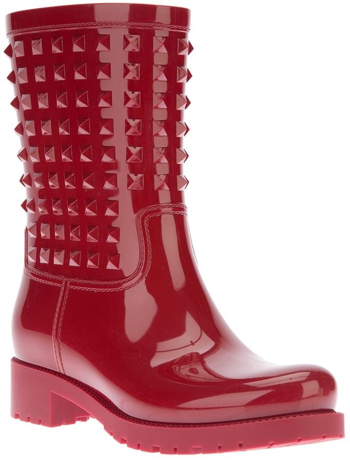 Valentino Garavani 'Rockstud' wellington boot