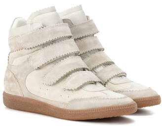 Isabel Marant Bilsy suede high-top sneakers