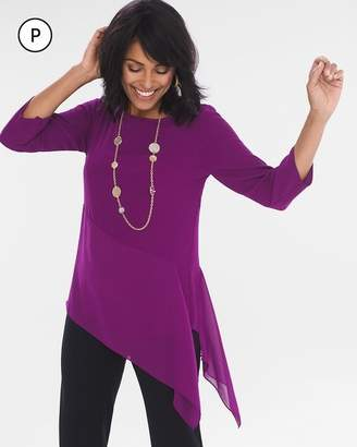 Petite Solid Asymmetrical Tunic