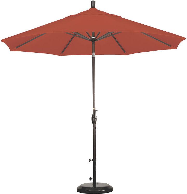 One Kings Lane 9' Market Umbrella, Bronze/Sunset